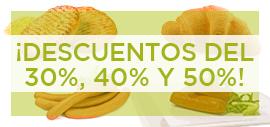 ¡DESCUENTOS DEL 30%, 40% Y 50%!